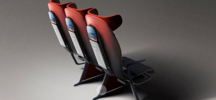 ¿Es este el asiento del avión del futuro?